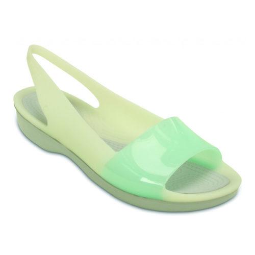 crocs-color-block-green