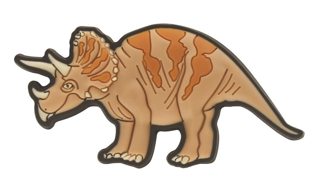 Crocs Декоративная фигурка для обуви Jibbitz Dinosaur Triceratops