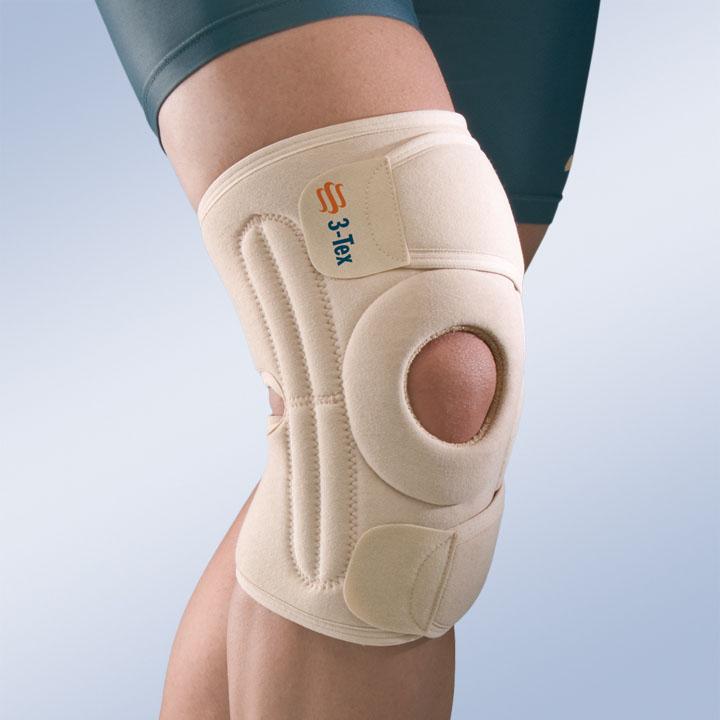 Ортез коленный разъемный со спиральными ребрами жесткости Orliman 3-Tex 6119