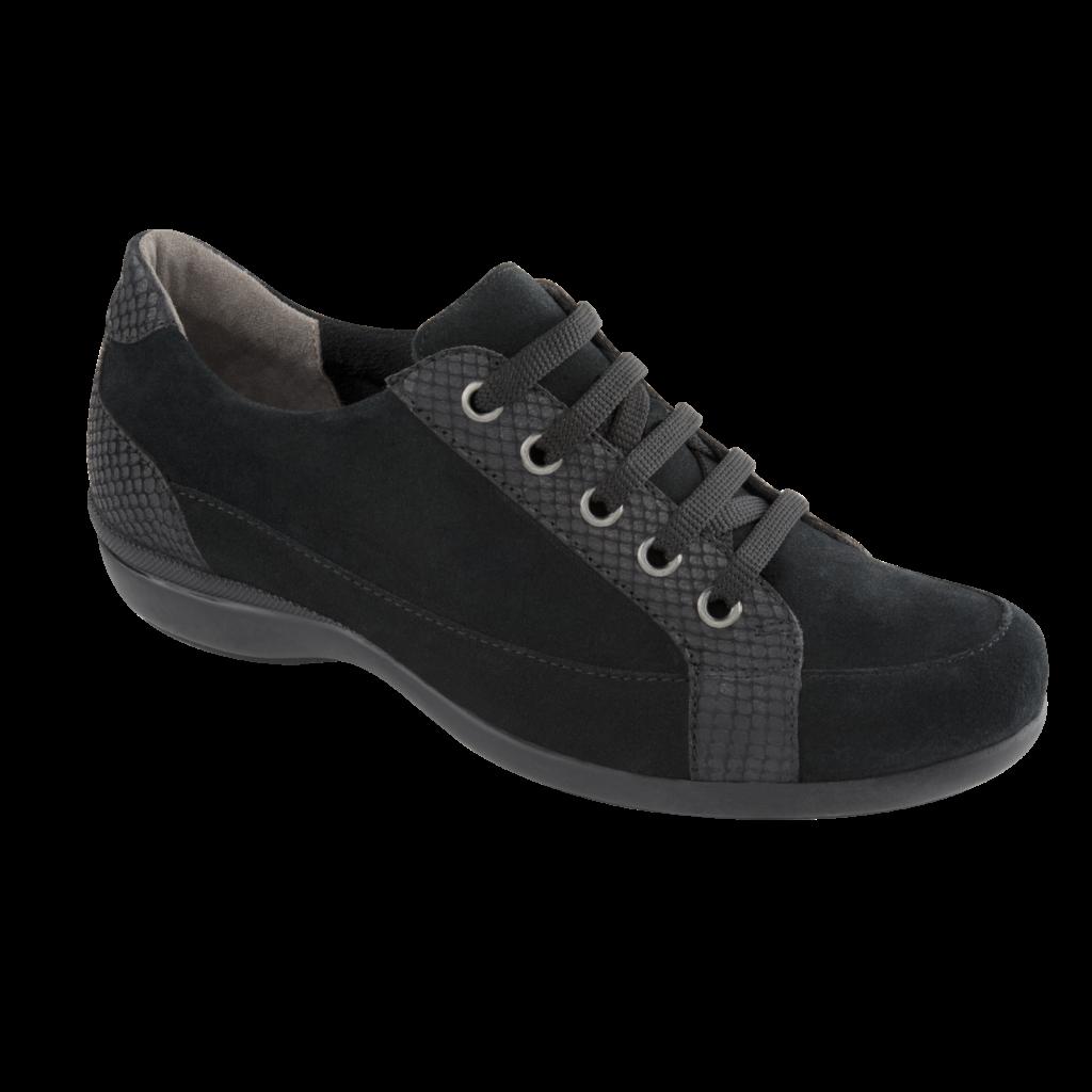 Женские ботинки на шнурках Scholl Zaria Black